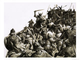 Danish Vikings Attack the British Forces under King Alfred Giclee Print by C.l. Doughty