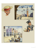 Wee Willie Winkie Visits Venice Giclee Print by John Worsley