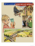 Off to London with Wee Willie Winkie Giclee Print by John Worsley