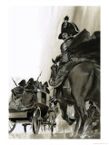 Unidentified Soldiers on Horse and in Cart Giclee Print by Angus Mcbride