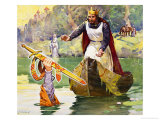 Famous Partnerships: Arthur and Excalibur Giclee Print by James Edwin Mcconnell