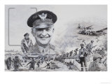 The Supreme Commander Who Had Never Seen Action Giclee Print by Graham Coton
