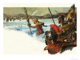 Unidentified Roman Legions Invade Britain Giclee Print by Alessandro Biffignandi