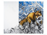 Nature's Kingdom: The Fox is Coming to Town Giclee Print by Susan Cartwright