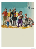 Wee Willie Winkie Lands on a Desert Island in the Pacific Giclee Print by John Worsley