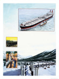 The Story of Oil: Twentieth-Century Treasure Hunt Giclee Print by Clifford Meadway