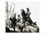 Francisco Pizarro and His Conquistadors Giclee Print by Severino Baraldi