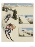 Wee Willie Winkie Crosses the Alps Giclee Print by John Worsley