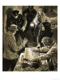 Interpol Officers Arresting Smugglers Giclee Print by Neville Dear