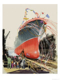 Wee Willie Winkie Visits a Ship-Yard Giclee Print by John Worsley