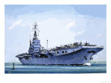 HMS Emperor, Converted from a Merchant Ship Into an Aircraft Carrier During the Second World War Giclee Print by John S. Smith