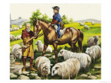 Farmer's Boy in the Fifteenth Century Giclee Print by Ron Embleton