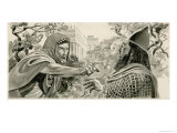 Elijah Denouncing King Ahab Giclee Print by Don Lawrence