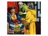 Marco Polo Introducing His Son to Kublai Khan Giclee Print by Ron Embleton