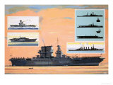 The Uss Saratoga, Converted from a Battle Cruiser to Become an Aircraft Carrier Giclee Print by John S. Smith