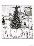 Chistmas Tree Surrounded by Dancing Animals Giclee Print by Jesus Blasco