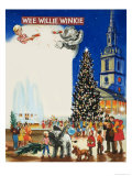 Wee Willie Winkie Spends Christmas in London Giclee Print by John Worsley