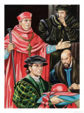 Cardinal Wolsey and Sir Thomas More Giclee Print by Ron Embleton