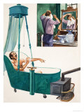 Bathing and Shaving Giclee Print by Peter Jackson