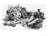 Sailors Fighting Giclee Print by Fortunino Matania