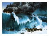 Tsunami Following Eruption of Krakatoa Giclee Print by Severino Baraldi