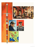 The Stalingrad Sword, Presented by Winston Churchill to Marshal Stalin Giclee Print by Dan Escott