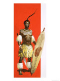 Shaka, the Zulu Warrior Giclee Print