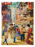 Wee Willie Winkie Visits Hong Kong Giclee Print by John Worsley