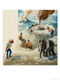 Wee Willie Winkie Goes to the Alaskan Peninsula Giclee Print by John Worsley