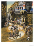 The Mountain Stronghold of the Warlike Hittites, Hattusas Giclee Print by Ron Embleton