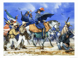 Santa Anna Led His Ill-Equipped Army on a Killing March Across the Frozen Plains of Coahuila Giclee Print by Angus Mcbride