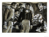 Nelson Lay Dying with Thoughts of His Beloved Lady Hamilton Giclee Print by Clive Uptton