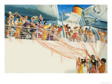 Wee Willie Winkie Bids Farewell to Fiji and the Reader Giclee Print by John Worsley