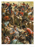 The Miners of Australia Rioted in 1854 Giclee Print by Clive Uptton