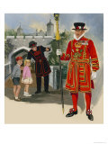 Yeoman Warder and Yeoman of the Guard Giclee Print by Arthur Nash