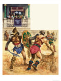 Gladiators Giclee Print by Peter Jackson