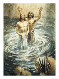 Christ Being Baptised by John the Baptist Giclee Print by Henry Coller
