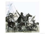 Francisco de Coronado at the Head of His Expedition Into Mexico Giclee Print by Graham Coton
