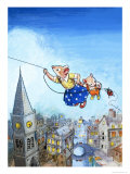 The Town Mouse and the Country Mouse Giclee Print by Philip Mendoza