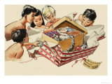 Wee Willie Winkie Has a Christmas Party in Thailand Giclee Print by John Worsley