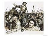 Robert Kett Leading a Peasants' Revolt Giclee Print by C.l. Doughty