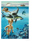 Wee Willie Winkie Sees the Dolphins Giclee Print by John Worsley