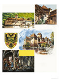 Historic Castles of the World: Chateau de Chillon Giclee Print by Dan Escott