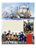 Scrapbook of the British Sailor, Unequal Contest Giclee Print by Eric Parker