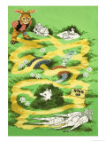 Brer Rabbit Puzzle Page Giclee Print