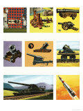Projectile Weapons Through the Ages Giclee Print by Dan Escott