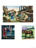 Illustrations For Michael and the Mighty Men Giclee Print by Ron Embleton
