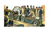 The Underground Postal Railway Giclee Print by Harry Green