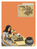 Typewriters Giclee Print by Harry Green