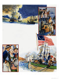 Scrapbook of the British Sailor, the Capture of New York Giclee Print by Eric Parker